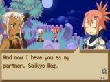 Tijdens je zoektocht naar het magische zwaard Daemon Edge ontmoet je tal van personages.