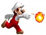 Hier is Mario in zijn vuurpak, één van de meest iconische powerups in de Mario series.