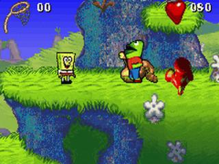 Spongebob reist in dit spel door verschillende bekende locaties uit de tv serie.