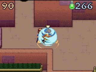 Aang maakt een beschermende koepel met luchtsturing om zichzelf te beschermen.