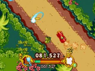 Het spel zorgt voor voldoende afwisseling. Zo kan je bijvoorbeeld ook racen in een auto.