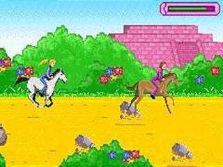 Paarden horen natuurlijk ook in een Barbie-spel.