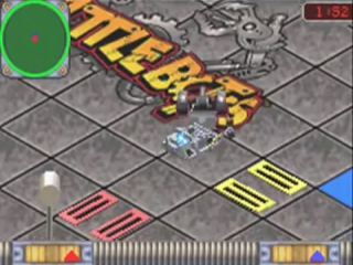 De robot die het het gevecht overleeft, gaat door naar de volgende ronde.