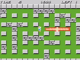 Bomberman moet wel oppassen met die bommen, voordat hij zichzelf pijn doet!