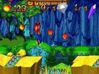 Ook in dit spel heeft Crash een grote honger naar appeltjes.