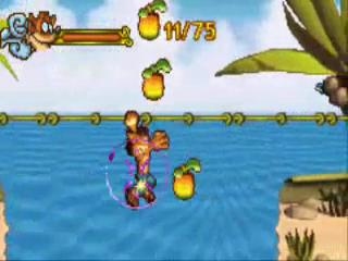 Probeer alle appels te verzamelen om het level perfect uit te spelen.