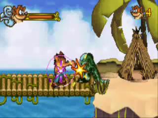 De wezens die Crash Bandicoot onderweg tegenkomt worden met gemak tegen de vlakte gewerkt.