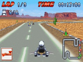 Race over de verschillende circuits!