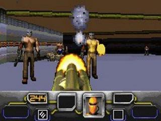 Dark Arena speelt als een soort <a href = https://www.mariogba.nl/gameboy-advance-spel-info.php?t=Doom target = _blank>Doom</a>!