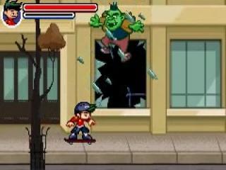 Tijdens je tocht kom je hordes aan zombies tegen die je neer moet meppen.