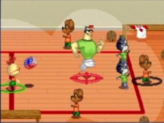 Er is ook nog tijd om even te ontspannen, bijvoorbeeld met een leuk spelletje basket.