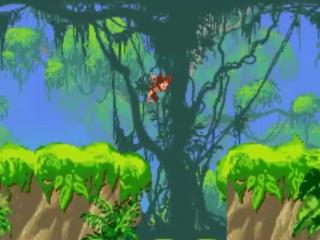 In dit spel speel je zowel met een jonge als volwassen Tarzan.