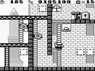 Sommige ladders verdwijnen na een tijdje, dus Mario zal snel moeten zijn!