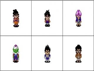Speel als Goku, Gohan, Trunks, Piccolo, Vegeta en Hercule.