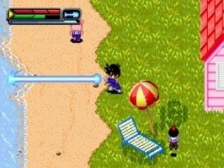 Ieder karakter heeft zijn eigen speciale aanval; zie hier de Kamehameha.