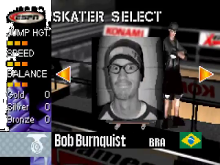 Bob Burnquist is een van de skaters waarmee je kunt spelen.