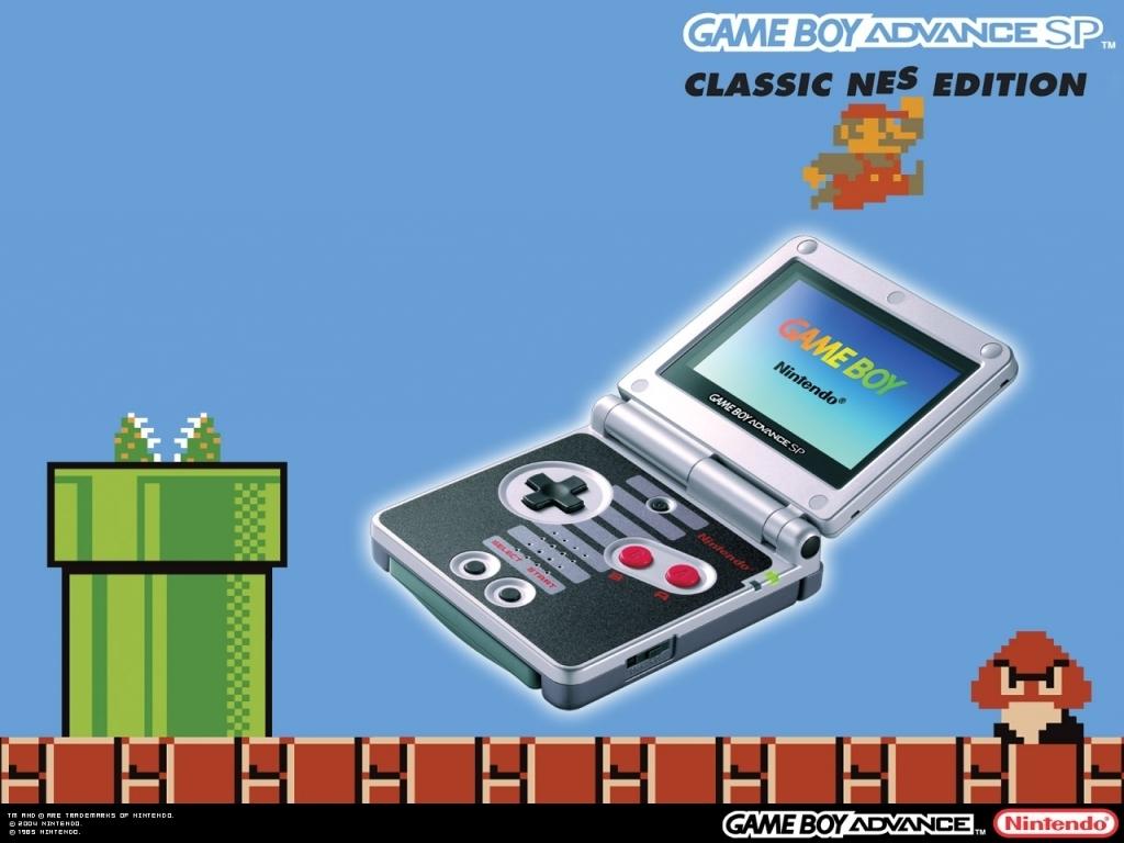 Hier zie je een <a href = https://www.mariogba.nl/gameboy-advance-spel-info.php?t=Game_Boy_Advance_SP target = _blank>Gameboy Advance SP</a> gebaseerd op het design van de Nintendo Entertainment System