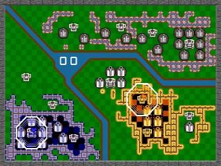 Rampart voelt en klinkt geheel als de Atari versie: Alleen is er wel lag...