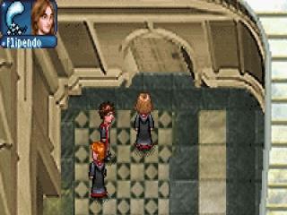 De drie speelbare personages: Harry, Ron en Hermelien.
