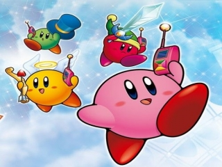 Speel als Kirby en zijn gele, groene en rode vrienden!
