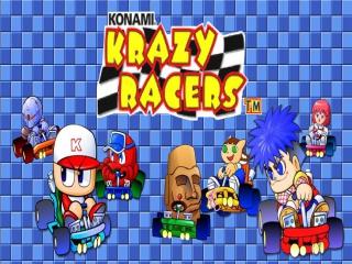 Race met verschillende figuurtjes uit de Konami games.
