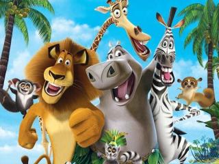 In Madagascar, gebaseerd op de animatiefilm, speel je met een leeuw, zebra, giraf of nijlpaard.