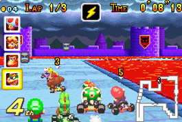 Bowser Castle 3 (in de Star Cup) is een van de 20 banen.