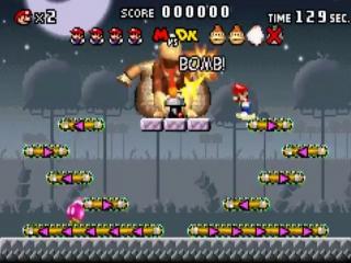 Werp bommen op <a href = https://www.mariogba.nl/gameboy-advance-spel-info.php?t=Donkey_Kong target = _blank>Donkey Kong</a> om hem uit te schakelen.