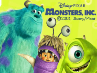 In het spel 'Monsters, Inc' speel je met de monsters Sulley en Mike.