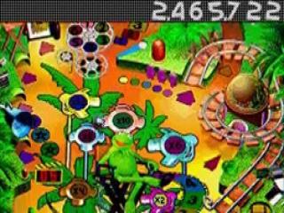 De flipperkast van Kermit de Kikker heeft een Safari-thema.