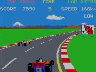 Speel Pole Position, een mijlpaal in de gaming geschiedenis.