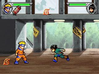 Vecht tegen verschillende personages uit de anime.