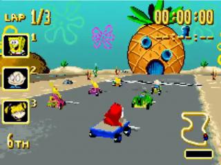 Nicktoons Racing heeft veel weg van <a href = https://www.mariogba.nl/gameboy-advance-spel-info.php?t=Mario_Kart_Super_Circuit target = _blank>Mario Kart</a>, maar dat maakt het niet minder leuk.