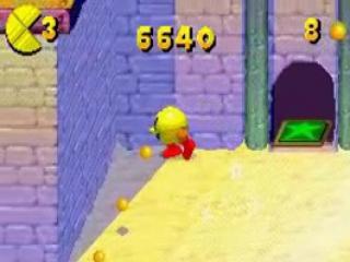 Verzamel zoveel mogelijk gele muntjes en zoek een weg naar de uitgang.