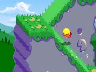 En nog een knipoog naar Sonic wanneer <a href = https://www.mariogba.nl/gameboy-advance-spel-info.php?t=Pac-Man target = _blank>Pac-Man</a> zich in een bolletje van de heuvel laat rollen.