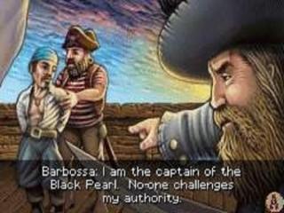 """Getekende filmpjes en het liedje """"A Pirate's life for me"""" zorgt tijdens het spelen voor een goed sfeertje."""