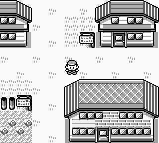 Pallet Town, het stadje waar je Pokémon avontuur begint.