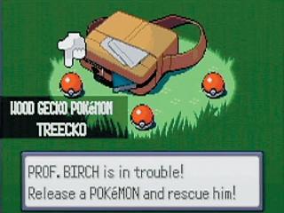 Kies aan het begin van de game jouw starter-Pokémon!