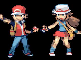 Speel als Red of Leaf en begin je grote Pokémon avontuur in de Kanto regio!