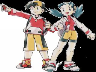 Dit zijn Ethan en Kris, zij zijn de eerste kiesbare characters in de pokemon games.