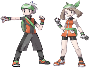 Dit zijn Brendan en May, (May is ook van de cartoon). Je kan als hun spelen in de game.