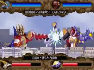 It's morphin time! De Power Rangers transformeren naar een robot en het gevecht wordt hervat.