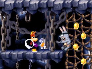 Rayman heeft genoeg van al die konijnen, dus help hem een handje!