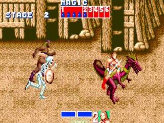 En in 'Golden Axe' probeer je 'Death Adder' en zijn volgelingen te verslaan.
