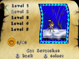 Speel meer dan 20 levels uit. Makkelijk te selecteren in het keuzemenu.