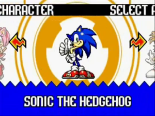 In Sonic Advance kan je spelen met vier personages: Sonic, Tails, Knuckles en Amy.