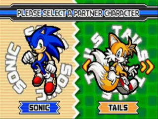 In Sonic Advance 3 kies je twee personages om mee te spelen.