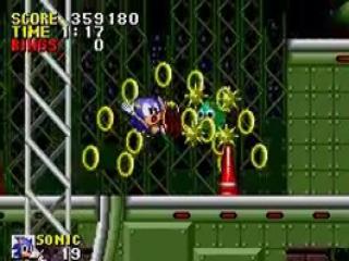 Wanneer Sonic tegen een zee-egel loopt verliest hij al zijn gouden ringen.