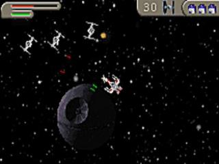 Bestuur de X-wing en breng ruimtemissies tot een goed einde.