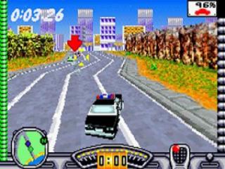 Soms mag je ook met een politiewagen rijden.